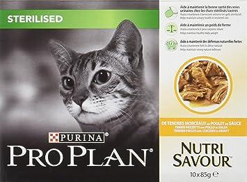 PRO PLAN CAT pienso húmedo esterilizada saborear 850gr pollo Comida mojado gato: Amazon.es: Hogar
