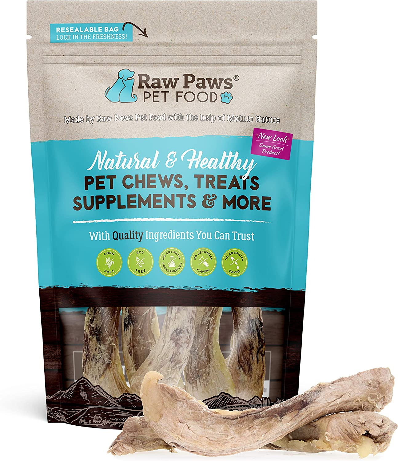 Raw Paws Freeze Dried Duck Necks for Dogs - All Natural Duck Dog Treats Made in USA Only - Human-Grade, Single Ingredient Duck Neck Dog Treat - Raw Freeze Dried Dog Treats