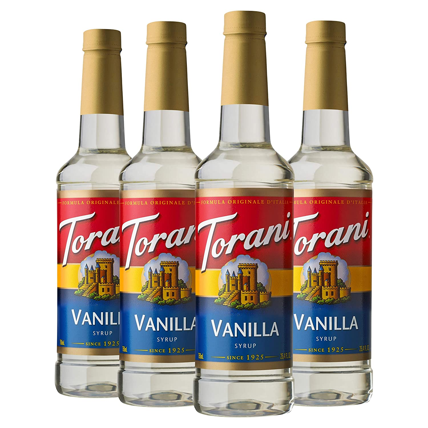 Torani Syrup, Vanilla, 25.4 Ounces (Pack of 4)