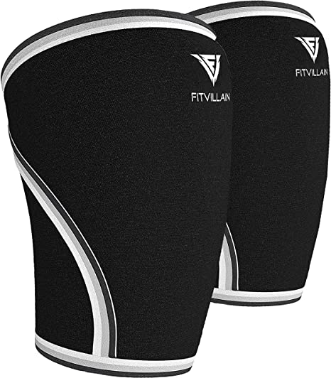 Pair Knee Sleeves Power Weight Lifting Squats Patella Support Brace Gym 7mm