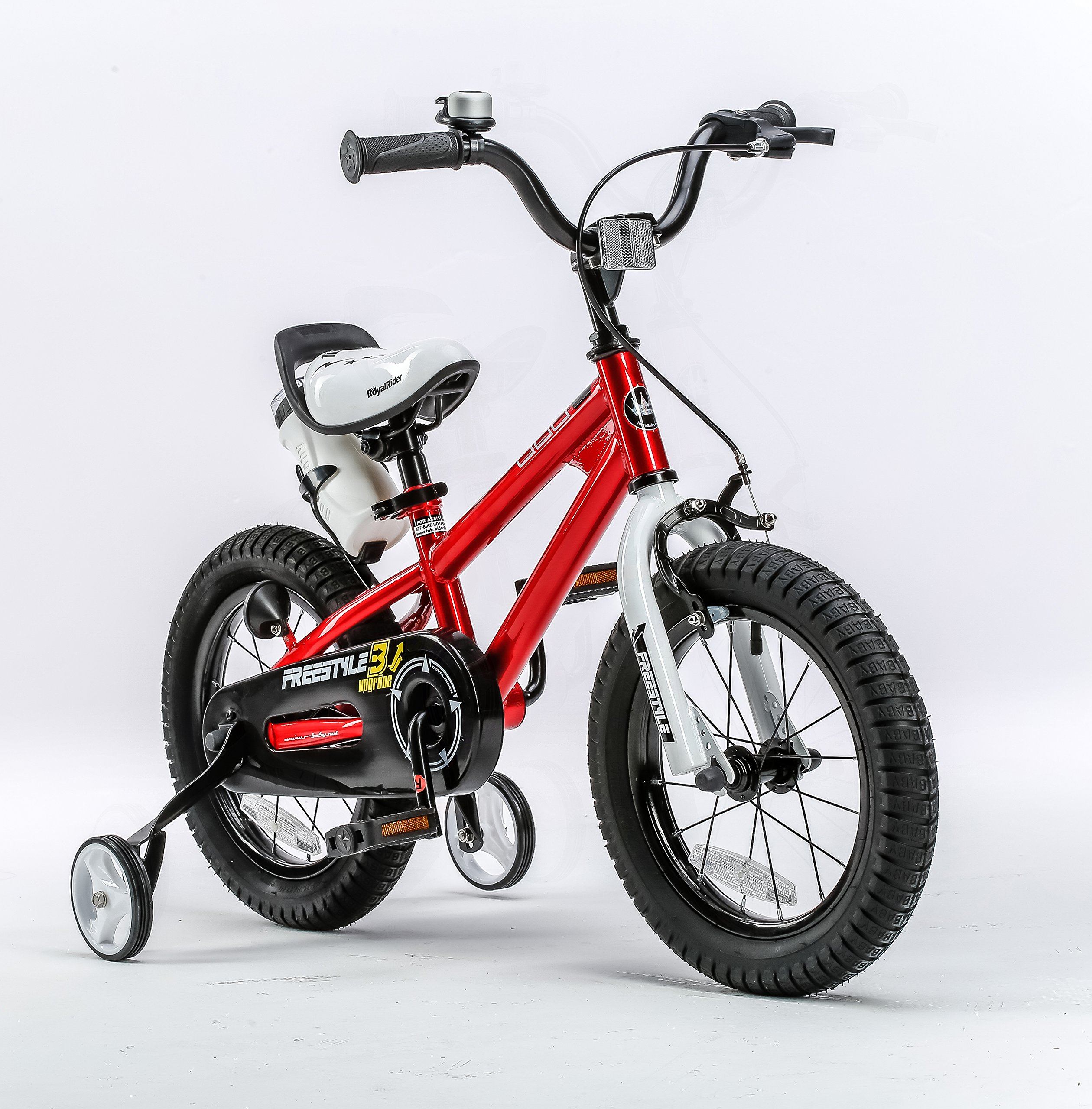 RoyalBaby BMX Freestyle Kids Bike, Boy's Bikes and Girl's Bikes with training wheels, 12 inch, 14 inch, 16 inch, 18 inch, Gifts for children by Royalbaby (Image #4)