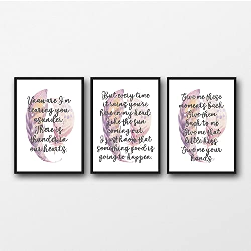 Amazon com: Set of 3 Kate Bush Lyrics - Unframed Prints
