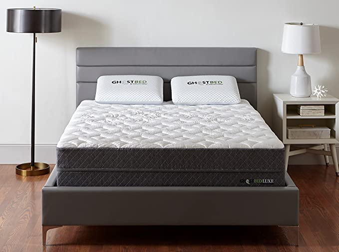 f74173f760a3 Amazon.com: GhostBed Luxe Mattress-King 13 Inch-The Coolest Mattress in the  World-Proprietary Ghost Ice Fabric and Ghost Bouncer Layer-Mattress in a ...
