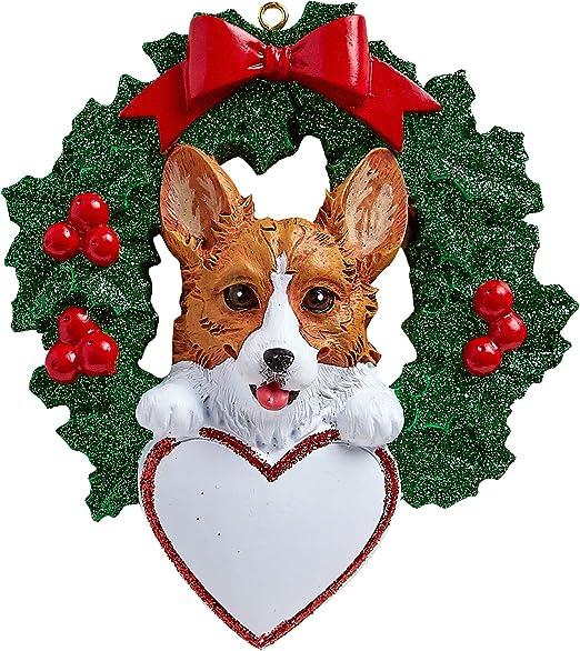 Corgi Dog Ornament Great as Christmas Gift! Custom with Name