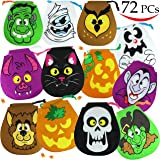 Spooktacular Creations Pack of 72 Halloween Drawstring Goody Bags Bags for Halloween Treats, Halloween Party Favors, Halloween Party Supplies