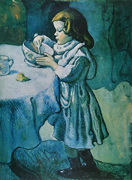 Le Gourmet The Greedy Child Pablo Picasso Blue Period