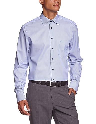 Seidensticker Herren Regular Fit Businesshemd KENT PATCH, Gr. Kragenweite: 40 cm, Blau (mittelblau 1...