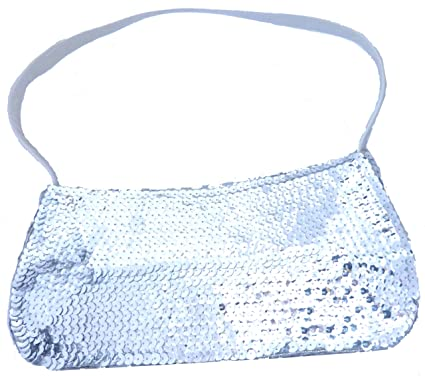 67fee9dbce5cd Damen Handtasche Pailletten Handtasche 26cm SILBER  Amazon.de ...