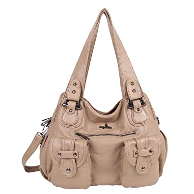 ca21114bda Angelkiss Women Purses and Handbags Washed Pu Lether Large Shoulder Bags On  Sale