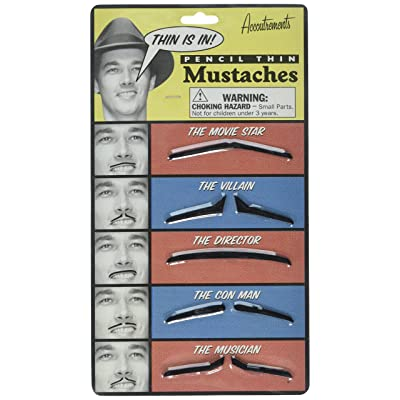 Accoutrements Pencil Thin Mustache Set: Toys & Games