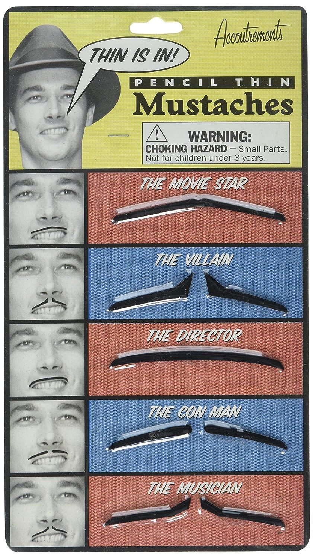 Accoutrements Pencil Thin Mustache Set