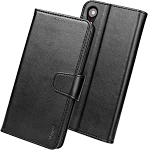 Migeec Case for iPhone XR, [Kickstand Feature] Luxury PU Leather Wallet Case Flip Folio Cover with [Card Slots] and [Note Pockets] for Apple iPhone XR 6.1 inch Black