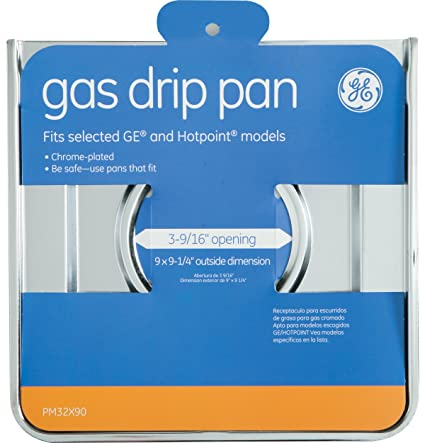 Amazon.com: Set of 4 - 9 In. X 9-1/4 In. Gas Drip Pan For And Hotpoint Gas Ranges-GE-PM32X90GDS: Appliances
