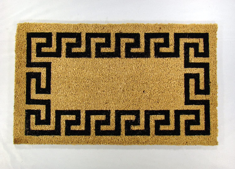 Amazon.com : Kempf Greek Key Coco Doormat, Rubber Backed, 18 by 30 ...