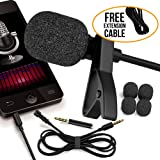 RockDaMic Professional Lavalier Microphone [FREE BONUS ACCESSORIES] Best Clip-on System Lapel Mic Condenser for Recording, Youtube, DSLR, Interview, Camera, iPhone Android PC Video Conference (5)