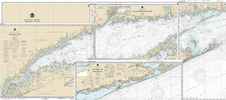 New York Long Island State City Vintage Map Print Original