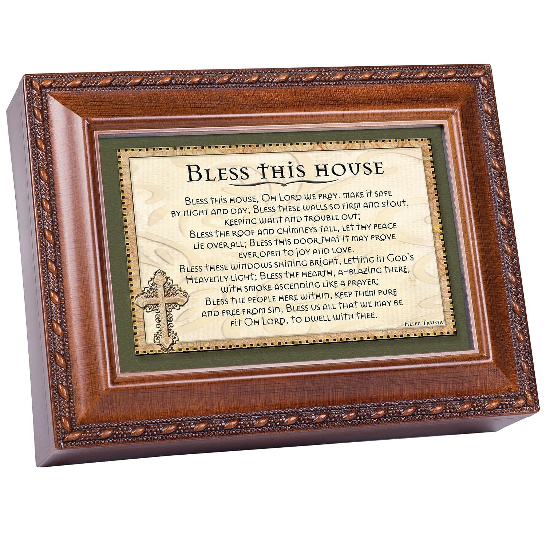 上質で快適 Blessこの家Prayer木製仕上げジュエリー音楽ボックスPlays B003AK80AE Great Great Is Thy Is Faithfulness B003AK80AE, ブランドステーション:d5dde0cf --- arcego.dominiotemporario.com