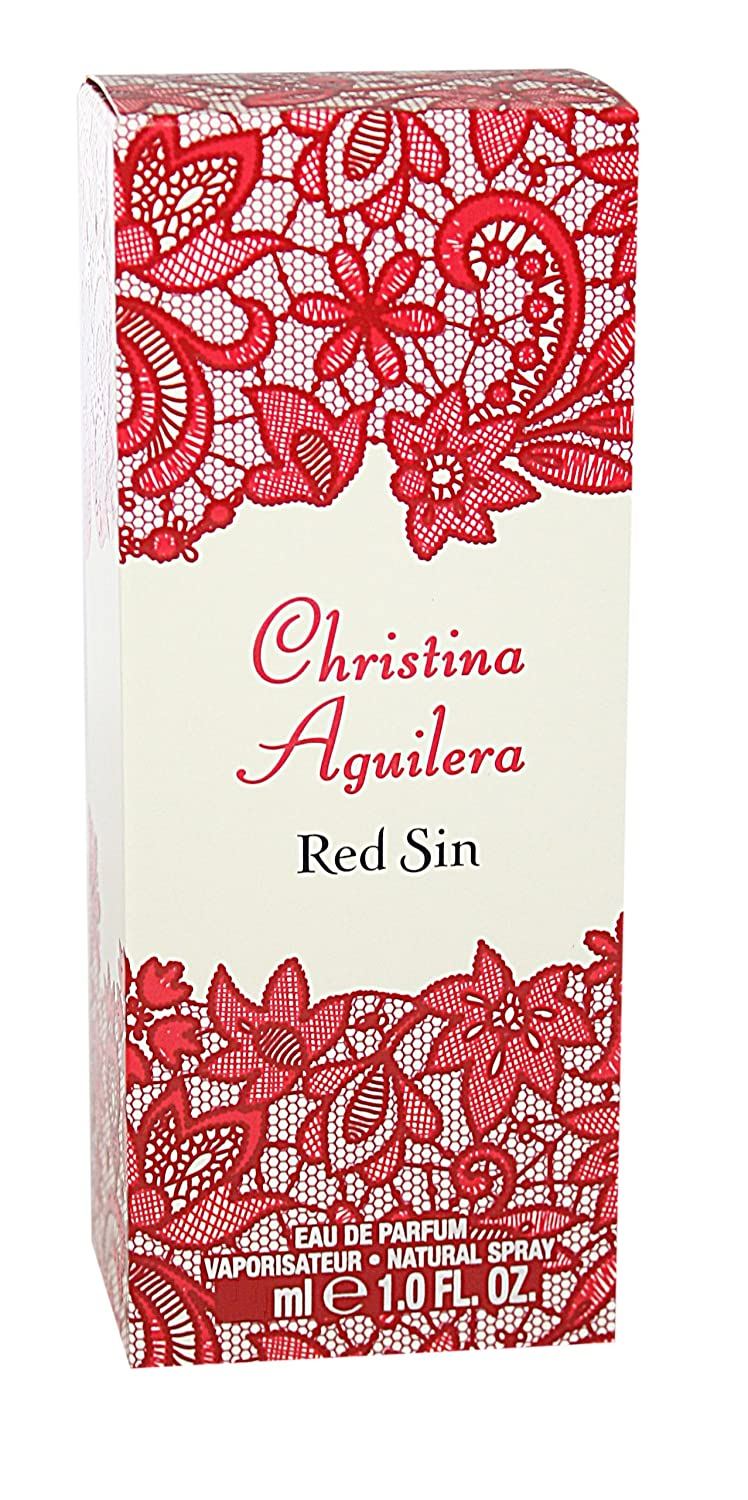 Christina Aguilera Red Sin Eau De Parfum Spray, 3.3 Ounce