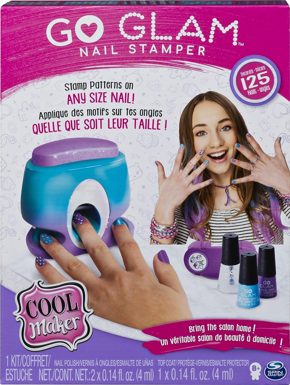 Go Glam nail stamper box kit for girls.