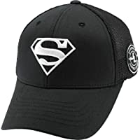 Justice League Superman Flexfit Breathable Mesh Fitted Stretch Fit Baseball Ball Cap Trucker Hat Korean Made