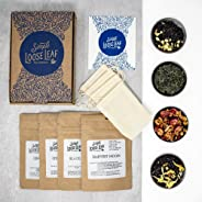 Simple Loose Leaf Tea - Curated Exploration of 4 Loose Leaf Tea Premium Blends - Hand packaged Tea Subscription Box: Sampler