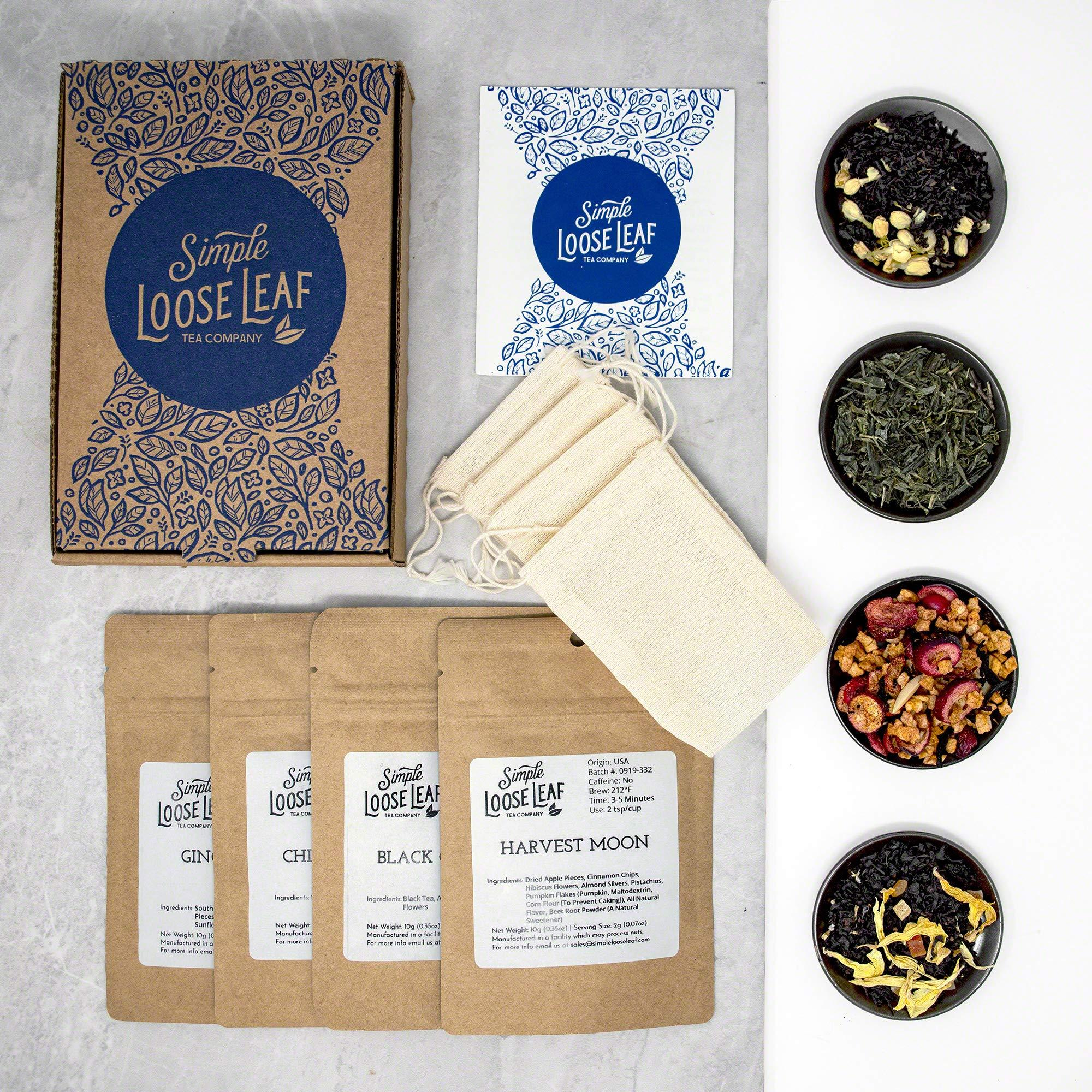 A curated selection of loose leaf tea