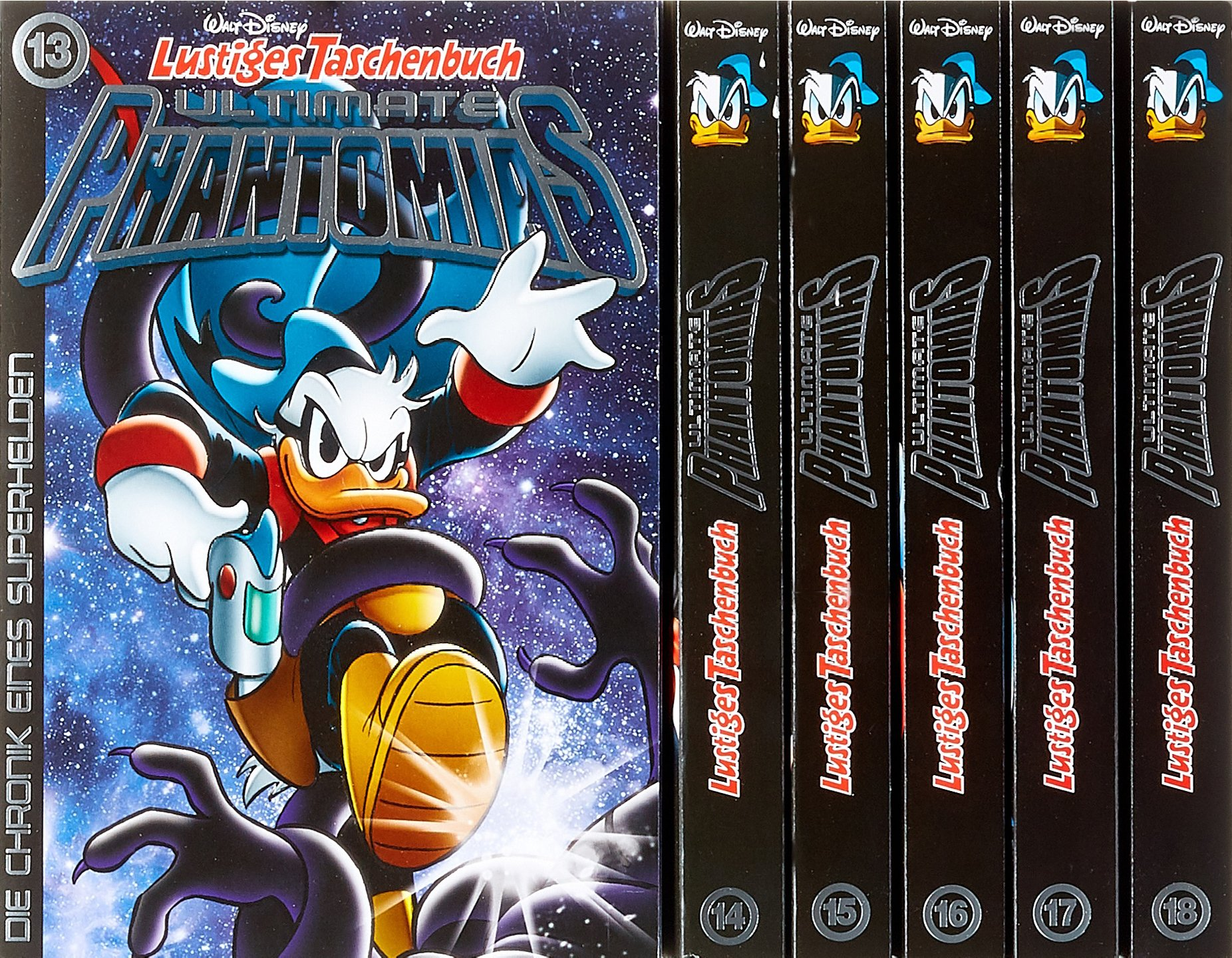 Lustiges Taschenbuch Ultimate Phantomias Box Band 13 - 18: Die Chronik eines Superhelden Taschenbuch – 13. Dezember 2017 Walt Disney Egmont Ehapa Media 3841340482 Comic / Abenteuer