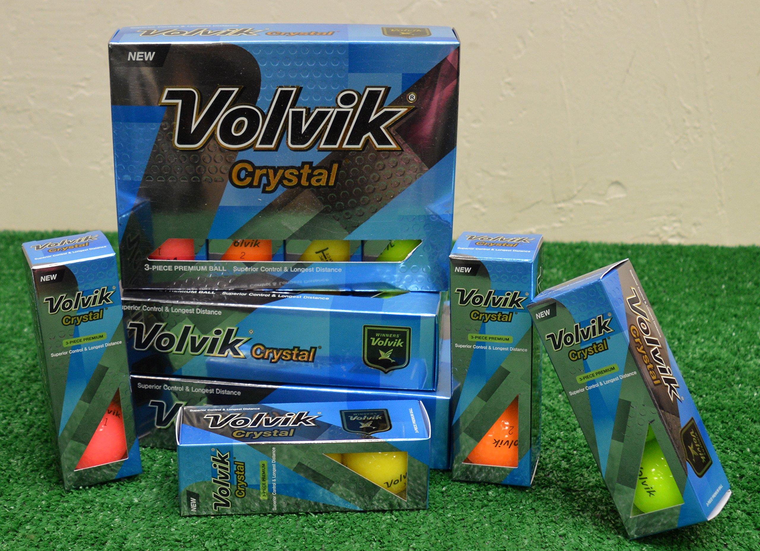 4 Dozen Volvik Crystal Mixed Color Golf Balls - New in Box