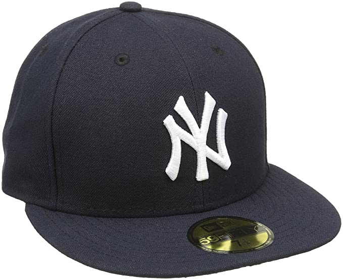 Amazon.com  New Era 59fifty New York Yankees Navy white Cap 7 7 8 ... a897da9a5a9