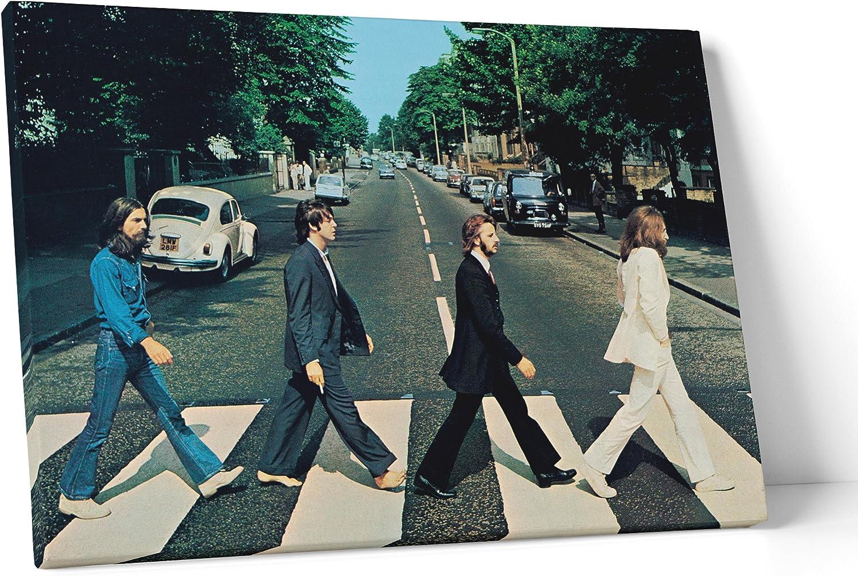 LaMAGLIERIA Fine Art - Cuadro de Tela Canvas The Beatles - Abbey Road Listo para Colgar – Medida Marco (Posterior) 2cm – Fine Art, 70cmx100cm