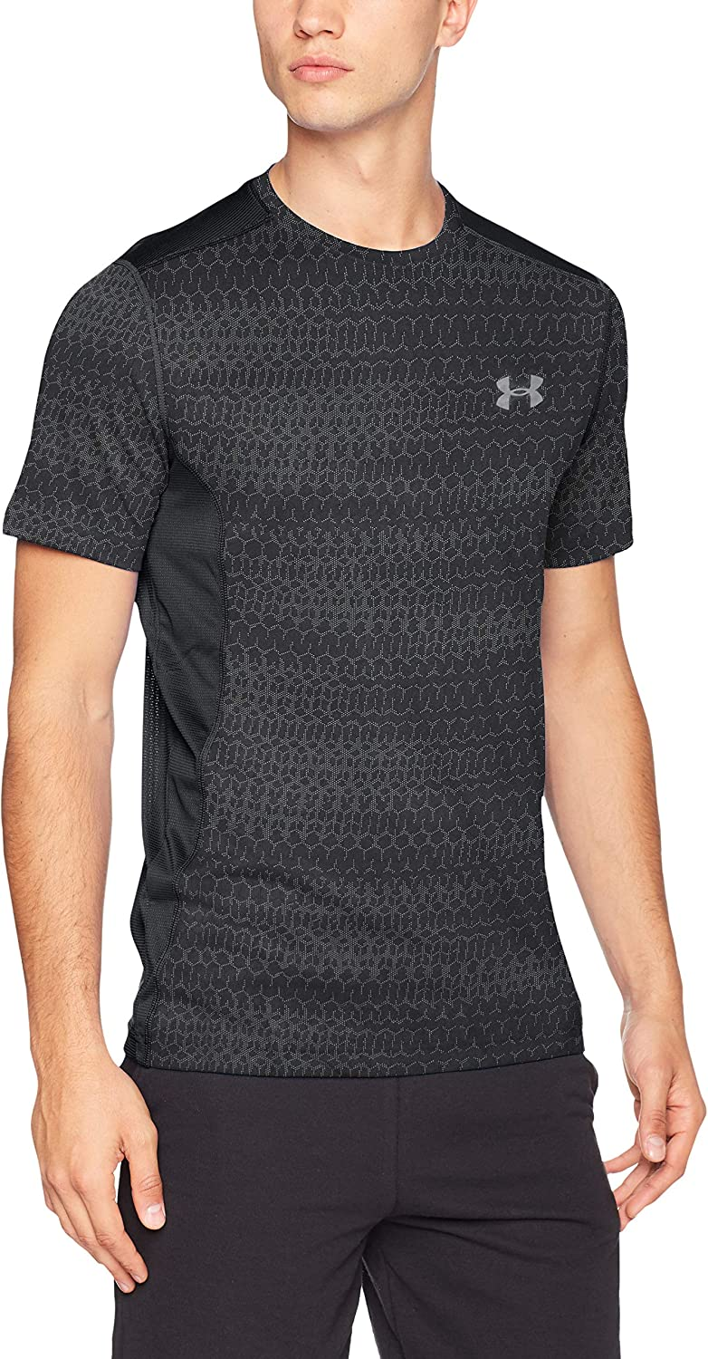 Under Armour Mens Raid Jacquard Short Sleeve Top