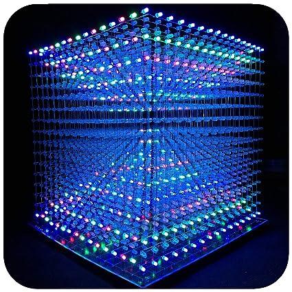 Amazon.com: iCubeEdv 3d LED Cubo Luz Electrónica Kit con ...