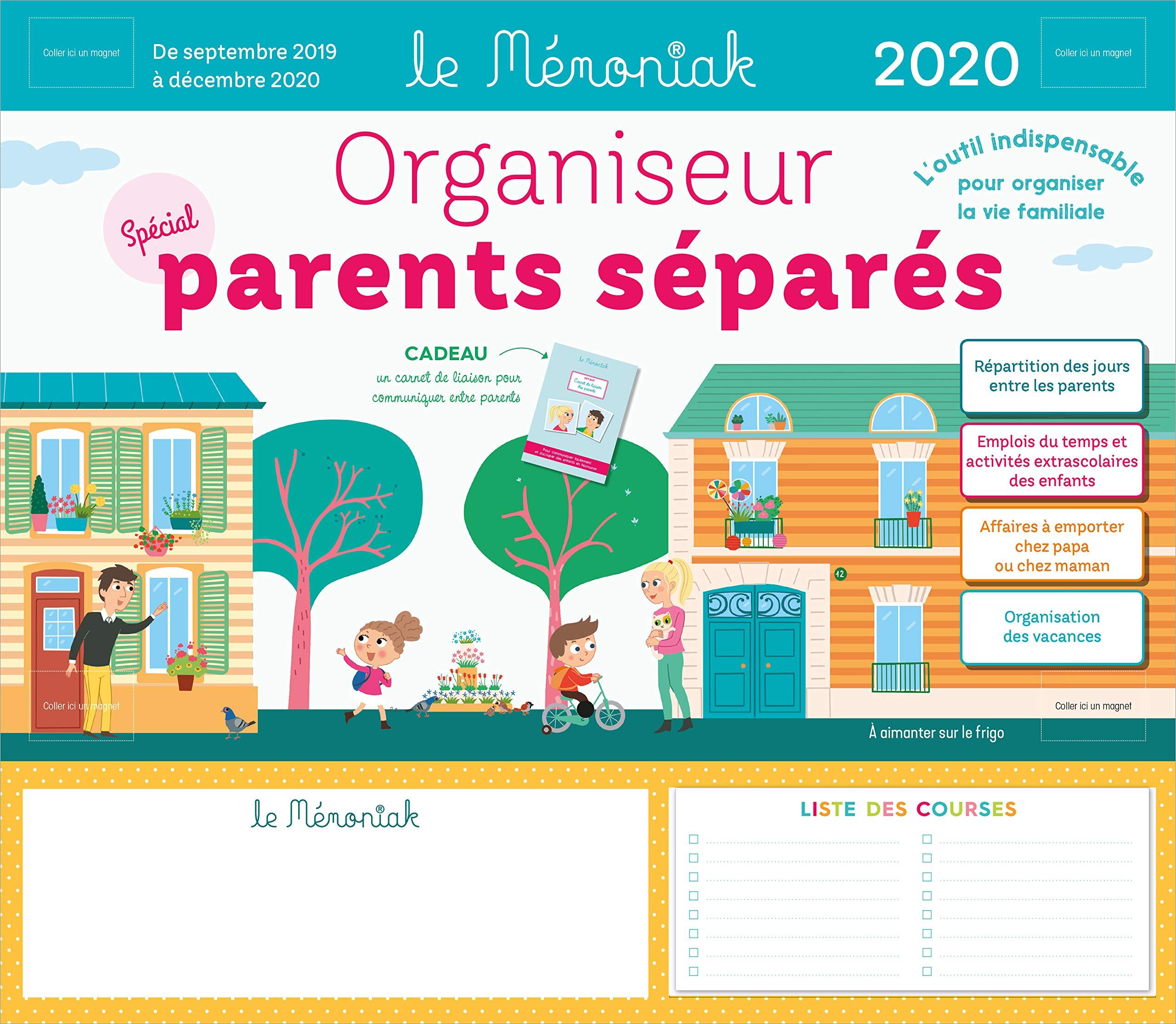 Calendrier Parents Divorcés 2021 Amazon.fr   Organiseur Parents Separes Memoniak 2019 2020   Chiodo
