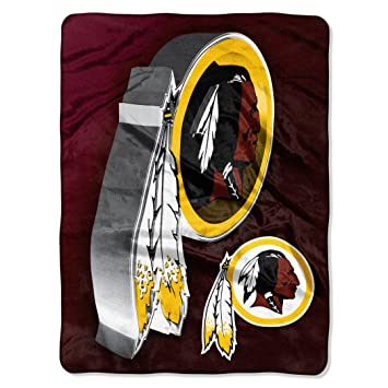 Northwest Officially Licensed NFL Washington Redskins Bevel Micro Awesome Redskins Throw Blanket