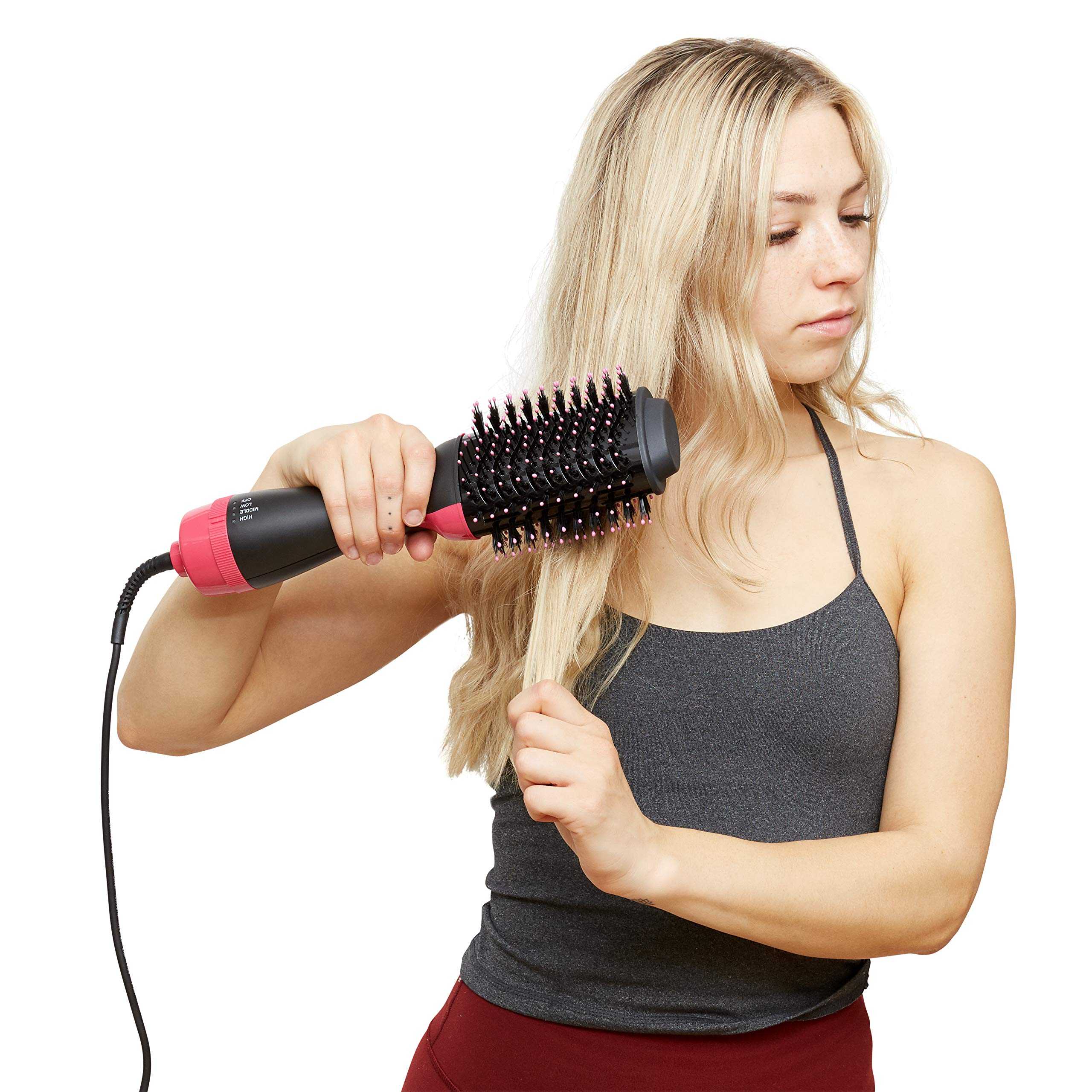 Beauty Hair Brush Dryer - Hairdryer/Straightener/Blowdryer/Volume/Straightening/Styling - Blow Dryers - Hot Volumizing Hairbrush - Amazing Salon Drying - Hair Blower - Volumize Hair dryer - Pro Styler by JJSparre