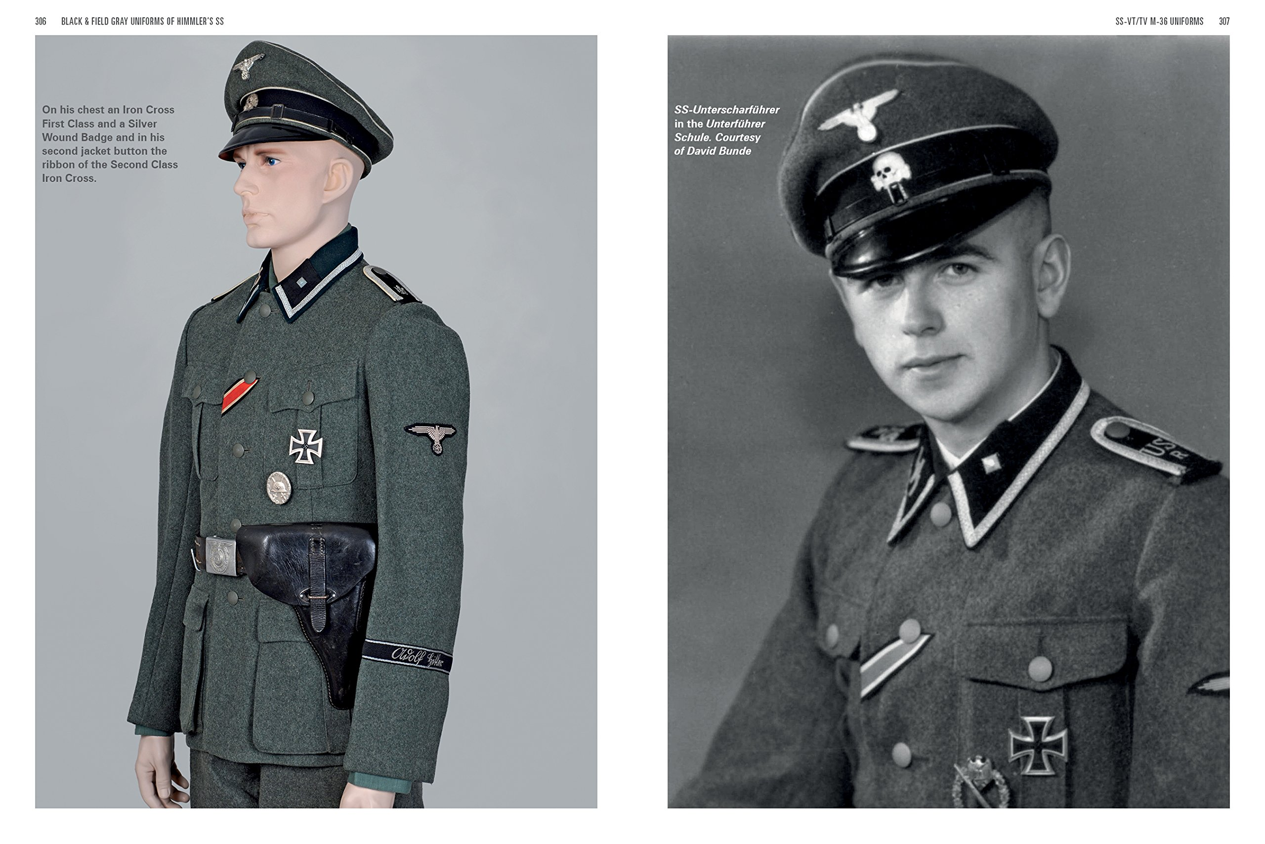 black and field gray uniforms of himmler s ss allgemeine ss ss