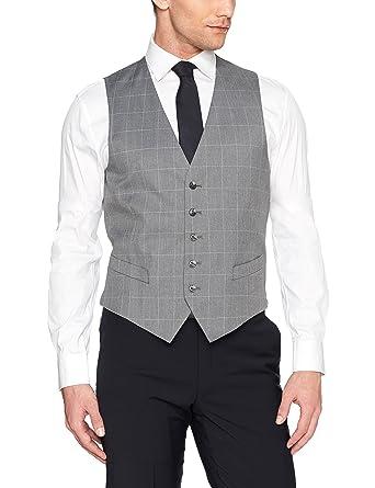 Perry Ellis Hombres REDRV Chaleco de traje de negocios ...