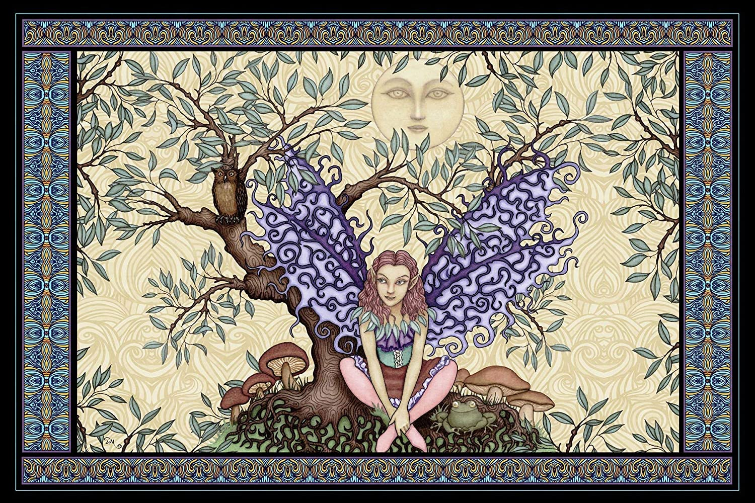 Fairy Tree of Life Tapestry by Dan Morris