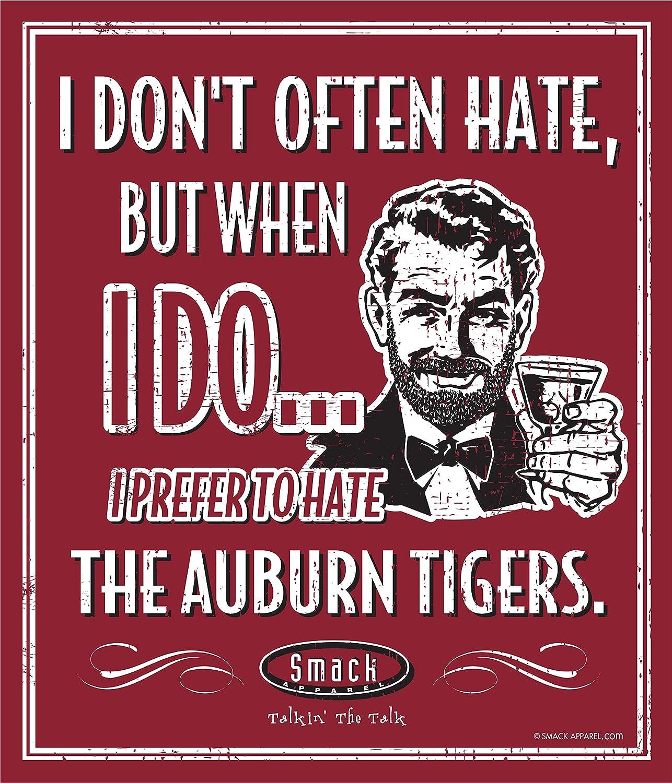 Smack Apparel Alabama Football Fans. I Prefer to Hate Auburn 12'' X 14'' Metal Man Cave Sign