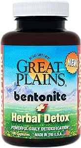 Yerba Prima Bentonite Clay Plus Herbal Detox - 100 Vegan Capsules