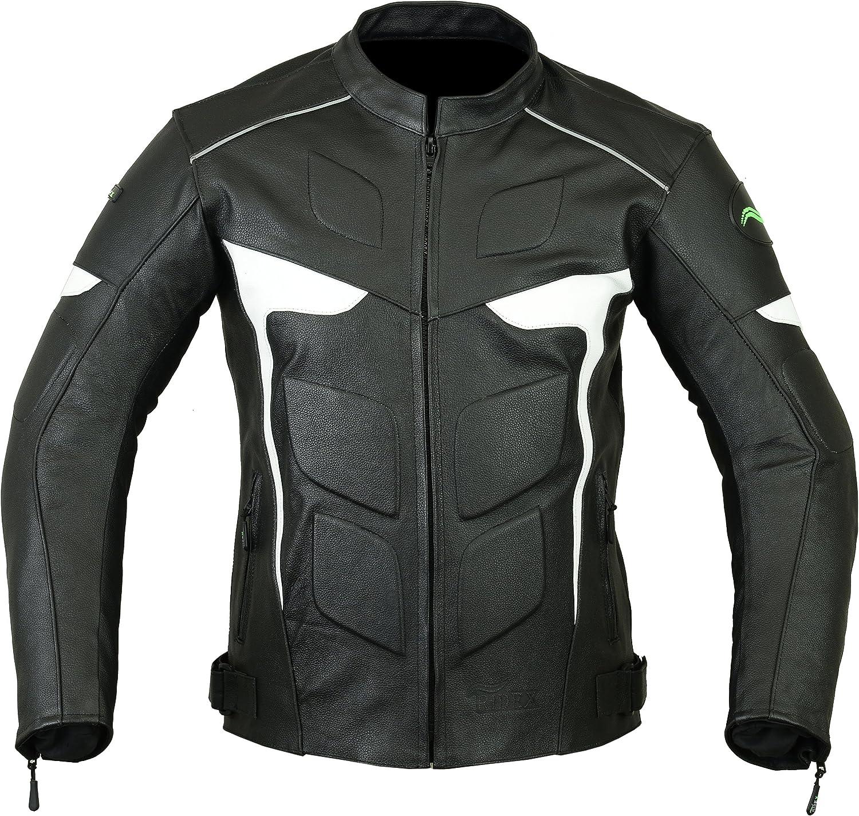 RIDEX LJ-2WW chaqueta de piel para motocicleta, para hombre, armadura con certificación CE, todas las tallas