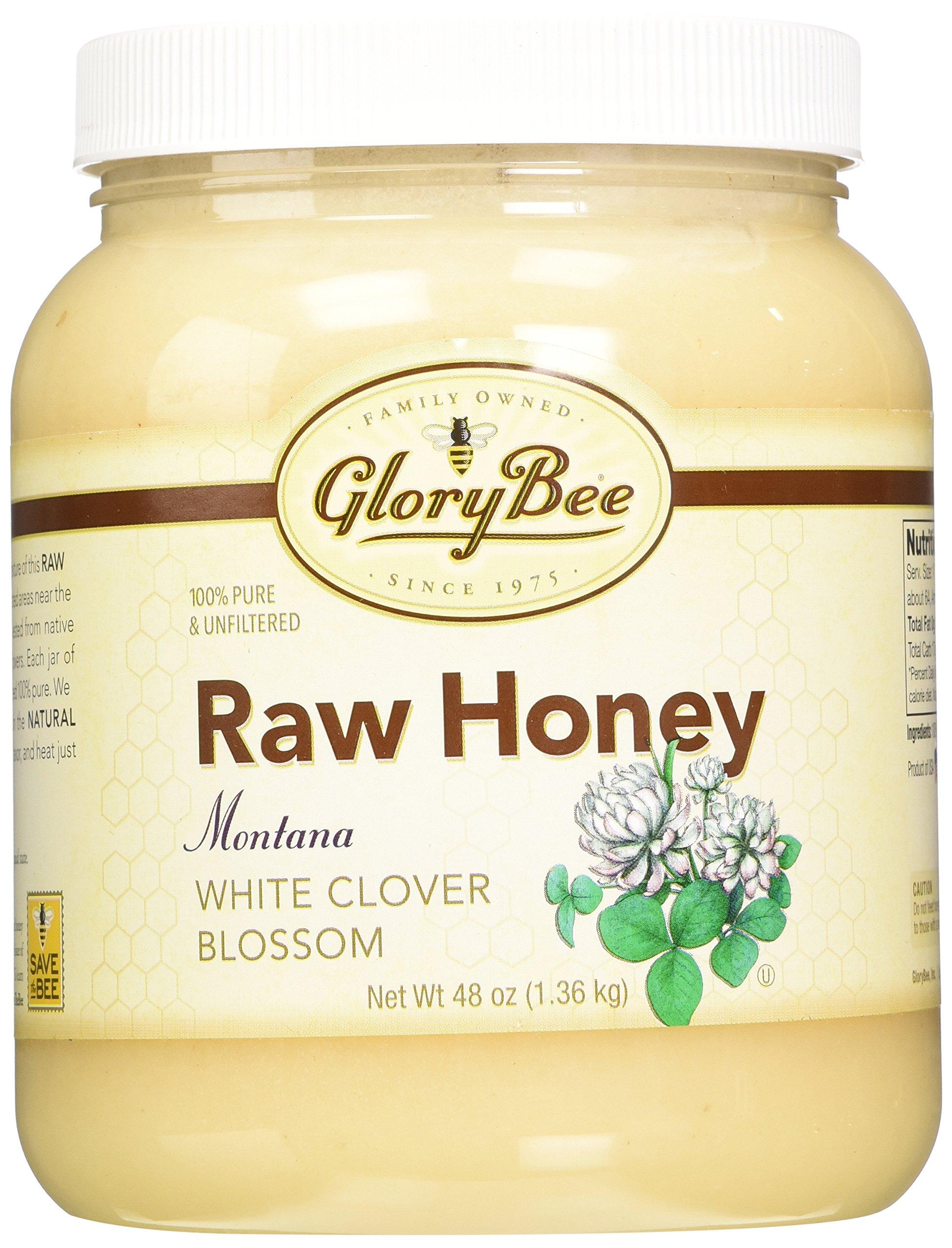 GloryBee Raw Montana White Clover Honey, 48 Ounce