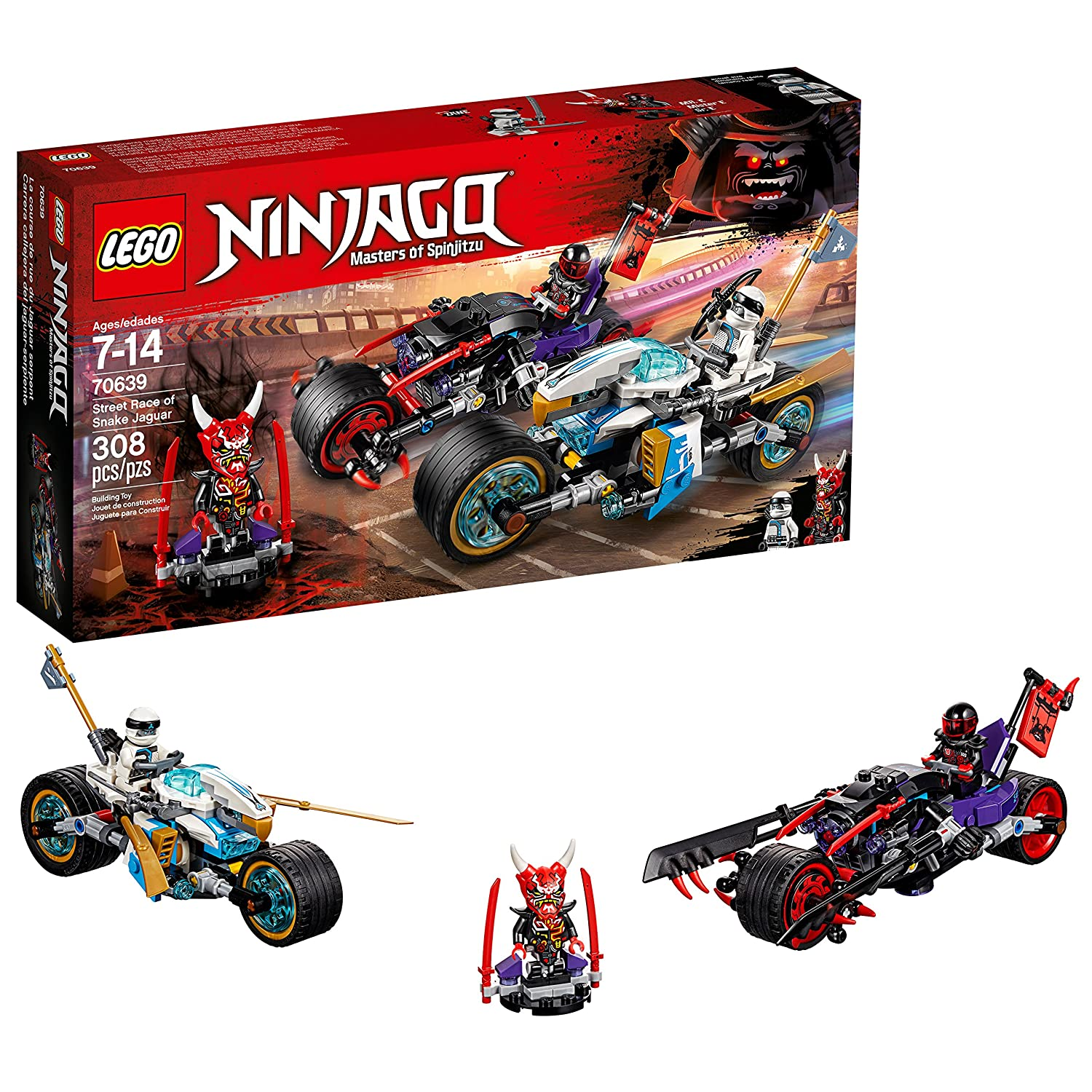 LEGO Ninjago 6212310 Street Race of Snake Jaguar 70639 Building Kit (308 Piece)