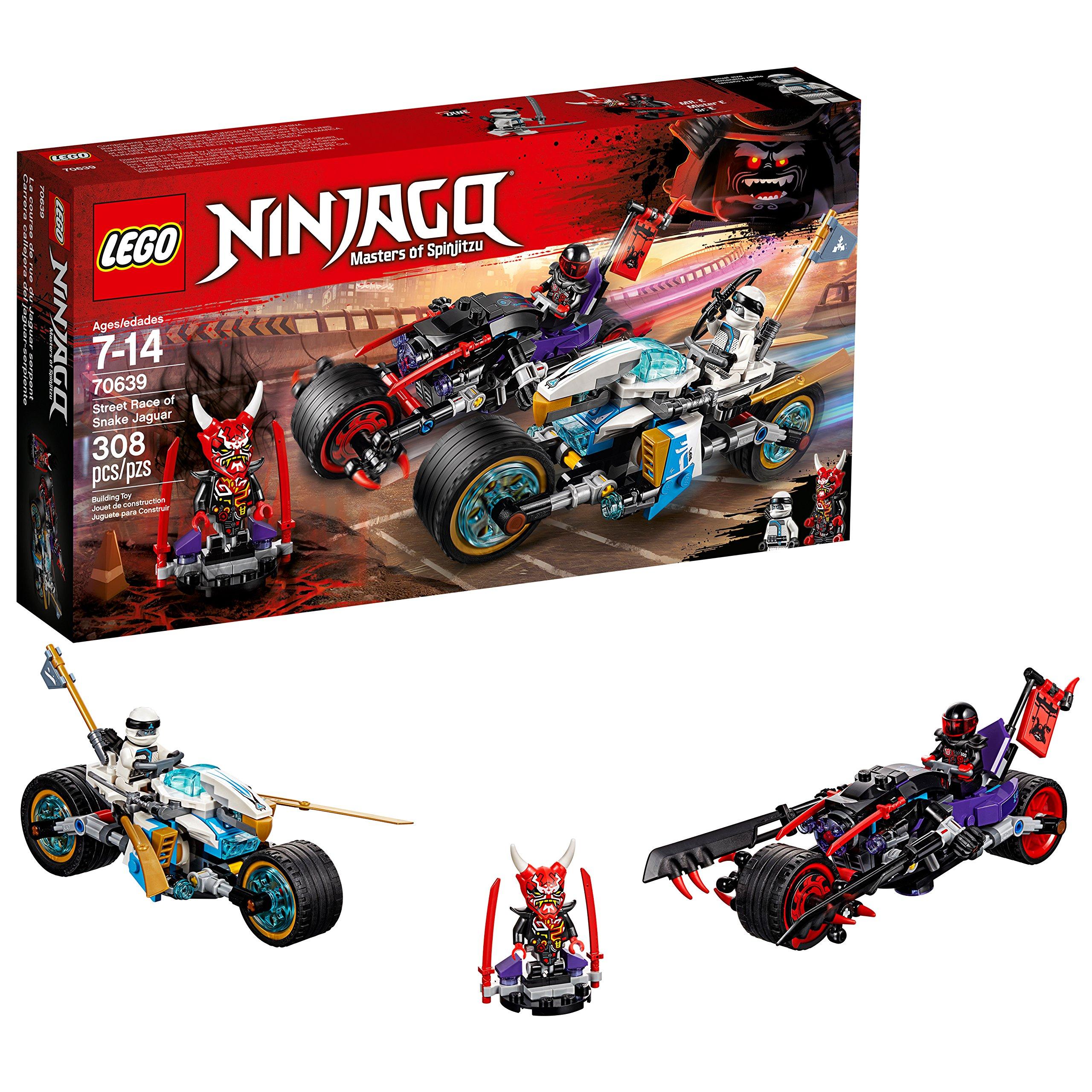 LEGO NINJAGO Street Race of Snake Jaguar 70639 Building Kit (308 Pieces) (Discontinued by Manufacturer)