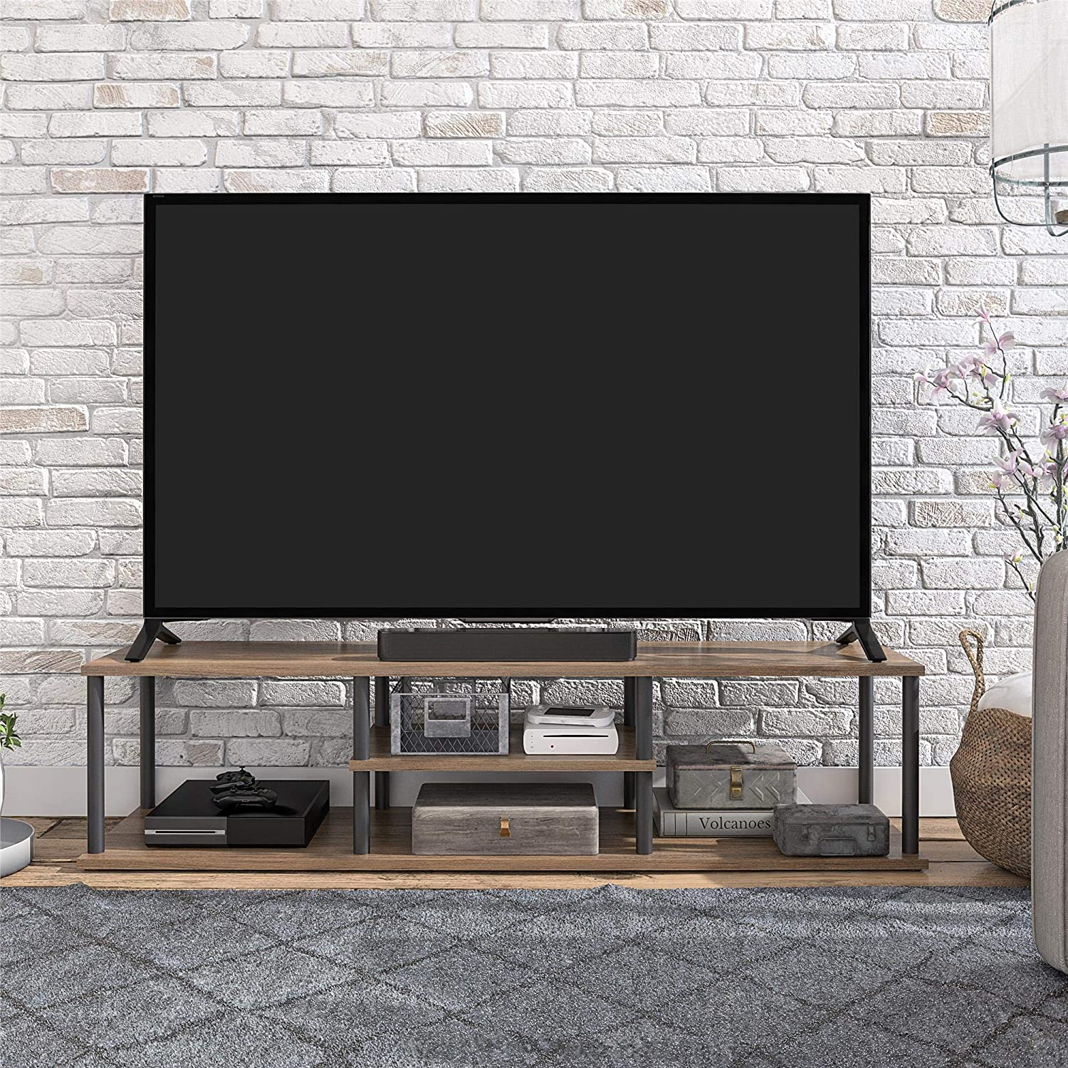 Ameriwood Home Laneigh TV Stand for TVs up to 60 Rustic Oak