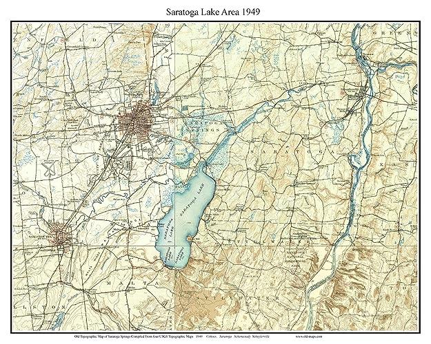 Saratoga New York Map.Amazon Com Saratoga Lake Area 1949 Usgs Old Topographical Map