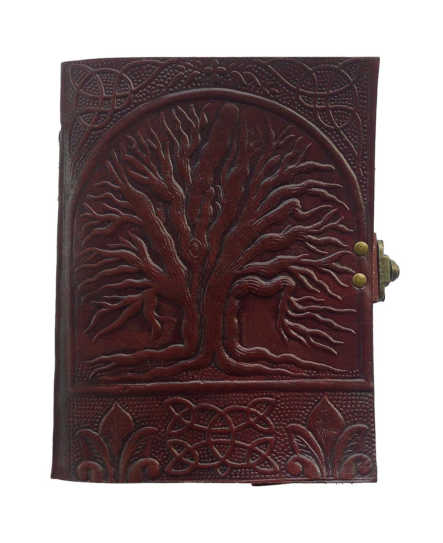 Shauryaハンドメイドレザー日記Celtic Tree of Lifeエンボス加工、人への贈り物として、Love、レザージャーナルノートブック B06Y17LH6R