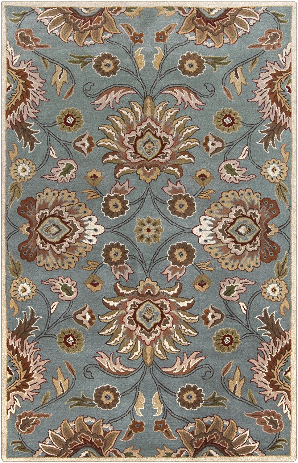 Amazon Com Surya Caesar Hand Tufted Classic Rug 9 Feet By 12 Feet Sky Blue Furniture Decor