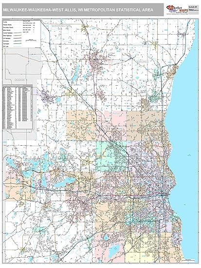 53209 Zip Code Map.Amazon Com Marketmaps Milwaukee Waukesha West Allis Wi Metro Area
