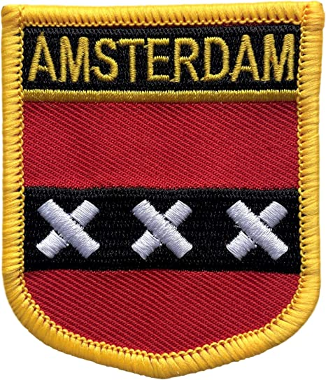 Amsterdam Netherlands Shield Embroidered Iron On Patch